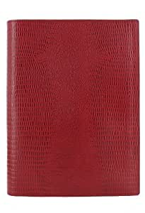 A5 Flex Crimson Lizard Print Cover by Filofax