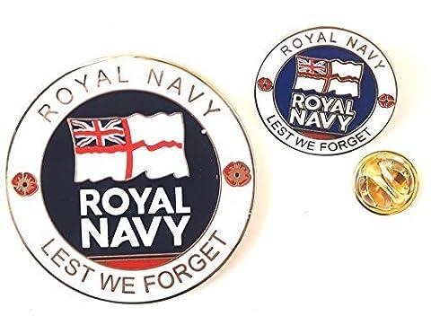 Marine Royale crêtéÉmail Commémorative Pièce de monnaie et Émail Badge Ensemble & Sac-cadeau