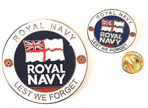 Königliche Marine Verziert Emaille Gedenkausgabe Münze und Emaille Abzeichen Set & Geschenktüte (Verziert Münze)