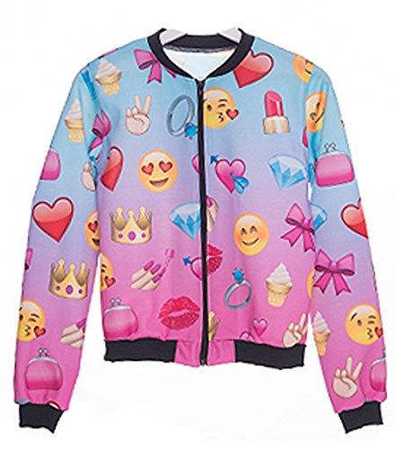 Kukubird Emoji Mädchen Design Pattern Bomberjacke