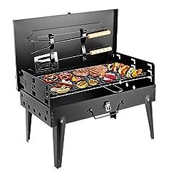 Idea Regalo - Sunjas Griglia Pratica Portatile e Pieghevole Campeggio Mini Fornello Barbecue