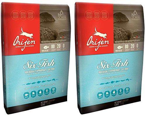 2x 5.4kg Orijen 6Fish de croquettes pour chat et chaton Lot non 2x 6.8kg