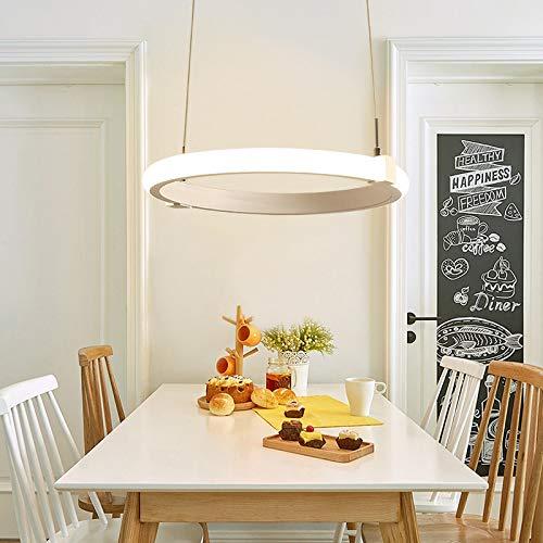 Lámpara de techo redonda redonda de 36 vatios diámetro 60 cm. Lámparas de una sola capa, monocromo luz cálida.