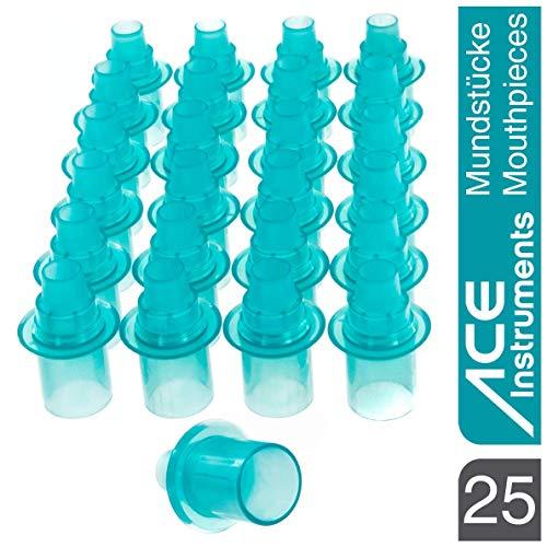 ACE Mundstück-Vorratspackung mit 25 Stück - Hygienesichere Mundstücke für ACE-Alkoholtester