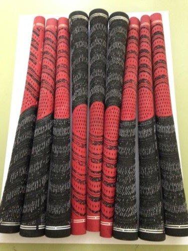 Grip de golf double densité Taille et couleur au choix, Red / black midsize x 13