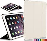 Forefront Cases Leather Case Cover with Magnetic Auto Sleep Wake Function for 7.9 inch Apple iPad Mini with Retina Display - White