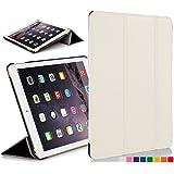 Forefront Cases® Apple iPad Air 1st Gen A1474 Leder Hülle Schutzhülle Tasche Smart Case Cover Stand - Rundum-Geräteschutz und intelligente Auto Schlaf / Wach Funktion