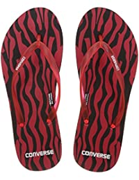 Converse Women's Black/Red Flip-Flops and House Slippers -7 UK/India (40 EU)