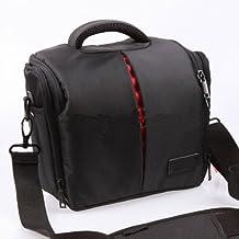 BV & Jo Waterproof Anti-shock DSLR Camera Case Bag with Extra Rain Cover for Nikon D3400,D3300, D5600,D5500,D5300, D7500,D7200,D750,D850, Canon EOS 4000D, 2000D 1300D,800D,750D,77D 80D 7D 200D - Black