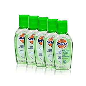 5x Sagrotan Healthy Touch Hand Desinfektion mit Aloe Vera 50 ml
