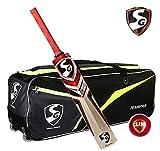#8: SG Extreme Cricket Kit (1 SG Phoenix Extreme Kashmir Willow Bat (Short Handle) + 1 SG Club Leather Ball + 1 SG Teampak Kit Bag, with Wheels)