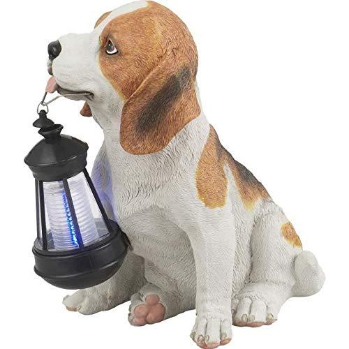 Globo Solar Außenleuchte Kunststoff Hund schwarz-weiß1 x LED weiß, 22 x 17 cm, H: 25.5 cm, 33371