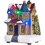 Décoration Manoir pour Village de Noël Lumineux par Lights4fun