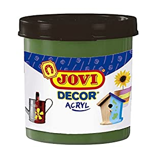 Jovi - Acryl, Caja de 6 Botes, Pintura multisuperficie, Color Verde Oscuro (67019)