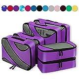 Eono Essentials 6 Set Verpackung Würfel, 3 Verschiedene Größen Reisegepäck Verpackung Lila Veranstalter