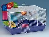 VivaPet criceto ratto Mouse Gerbil roditori gabbia casa, con tubo, Ripiano, scala, corsa ruota, grande, 46cm x 32cm x 27cm