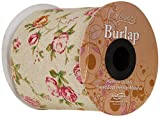 Burlap Frayed Edge Vintage Rose Inspired Ribbon 100mm x 1 Metre
