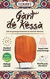 Tillmann's Gant de Crin Gommage Kessa Marocain-Exfoliant corps Femme-Essence of Morocco-Nettoyage des Cellules Mortes de la Peau-Gants de toilette-Spa-Hammam-Massage