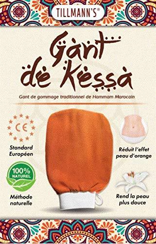 Tillmann's Gants de crin de Gommage Kessa Marocain pour l'exfoliation de la peau - Essence of Morocco - Gant de Nettoyage - Enlève les Cellules Mortes de la Peau et Exfolie - Traitement Spa - Hammam