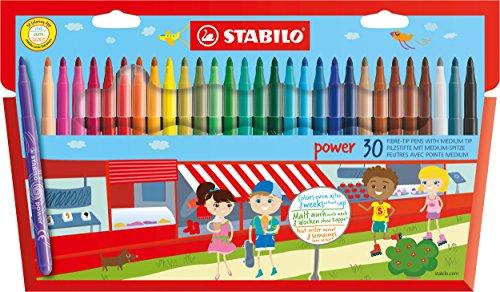 stabilo-filzstift-power-mit-30-verschiedenen-farben-30er-pack