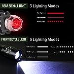 LE-Kit-Luci-Bicicletta-Led-2-Fari-Anteriori-2-Fanali-Posteriori-Kit-Luci-Bici-Luce-Bianca-e-Luce-Rossa-Fissa-Flash-SOS-Sicurezza-per-Notte-Illuminazione-Bici-per-Ciclismo-Corsa-ecc