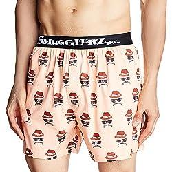 Smugglerz Inc. Men's Cotton Boxer (8000013624004_FACES 4-BXR-ORANGE-XL)