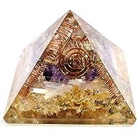 Orgonite Pyramid - Citrine + Amethyst +Selenite 3-3.5Inch Chakra & Reiki Healing Aura Cleansing Crystal. preisvergleich bei billige-tabletten.eu
