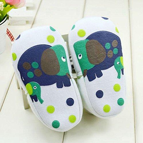 Goldore Warm-Baby-Mädchen-Schuhe Säuglingskleinkind -weich Sohle Cotton Slip-on Elastic Heel Erste Wanderer Schuhe 0-18M Elefant