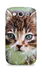 Amez designer printed 3d premium high quality back case cover for Samsung Galaxy S3 Neo (Kitten mustache)