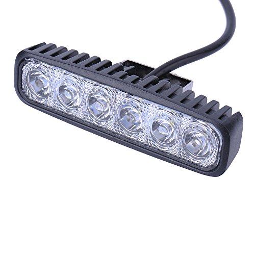 Yuanline Feux de Voiture LED 12V Phare Ronde Auto Lampe De Travail Spot Worklight Étanche Ip67 Pour Véhicule Voiture Bateaux Camion Cruiser (18W)