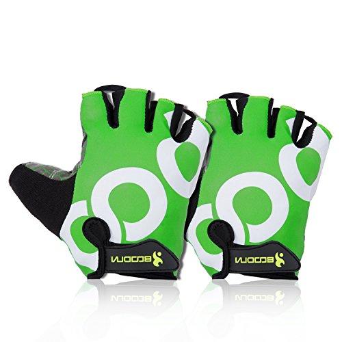 Navestar Herren Fahrradhandschuhe Kurze Rennrad Handschuhe Kinder Radsport Handschuhe Grün Size-S