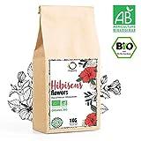 HIBISCUS BIO 1kg Qualité Supérieure | Fleur Hibiscus pour Bissap, Thé glacé,...