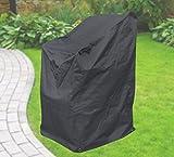 Confort Housse de protection pour chaises empilables, Housse de chaise, gris anthracite, 63x 79x 120cm