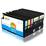 Gohepi 953XL Kompatibel mit Druckerpatronen HP 953XL 953 für HP OfficeJet Pro 8740 8710 8720 8730 8728 7740 8725 8218 8715 8718 8719 Patronen - 2 Schwarz/Blau/Rot/Gelb 5er-Pack