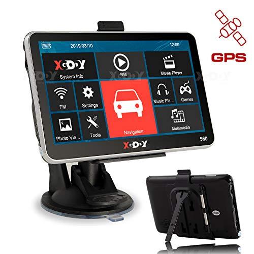 XGODY 560 GPS,Navegador para Coche y Camión -Navegación de 5 Pulgadas-Llamadas Manos...