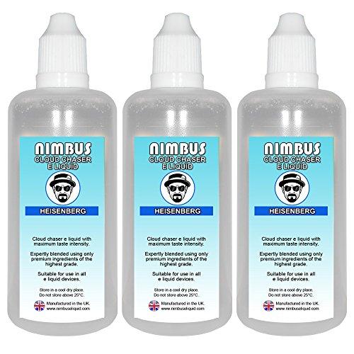 Triple Pack – 3x 100ml Heisenberg E Liquid 80/20 Cloud Chaser Vape Juice Sub Ohm Juice Shisha Vape Liquid 0mg eJuice E Cigarette Liquid Ecig Juice (Nimbus E Liquid)