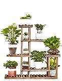 Pflanzenregale Holz Pflanzenständer Blume Regal Lagerregal für Indoor Balkon Dekoration Blumenständer