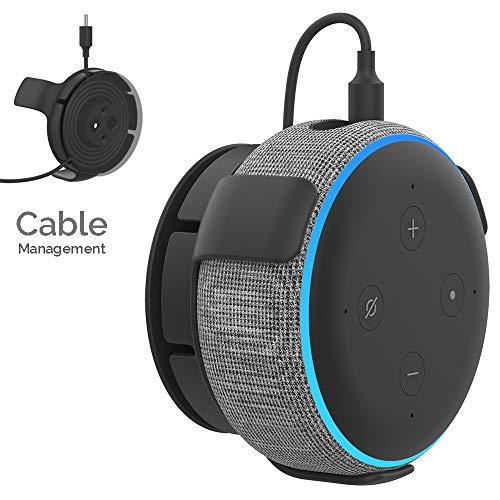 AhaStyle ABS Wandhalterung Ständerhalter für Dot 3. Generation - Zubehör für Dot 3nd Generation mit Kabel Verwaltung für Smart Home Lautsprecher Platzsparende für Küche, Bad und Schlafzimmer