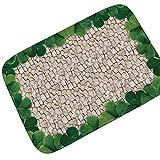 Epinki Flanell Teppich Stein Wand Drucken Muster Teppiche für Wohnzimmer Küche Bunt 90x60CM