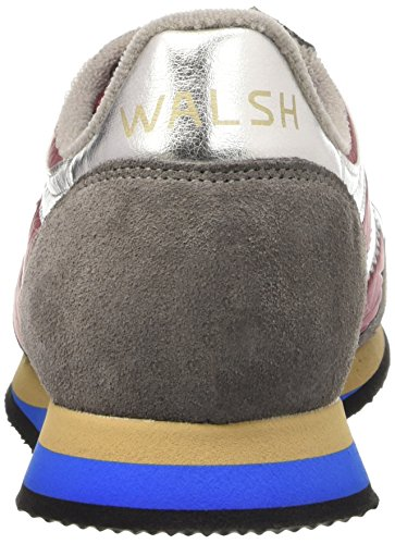 Walsh Tornado, Chaussures Basses Homme Multicolore (Burgundy/Grey/Silver)