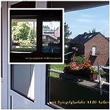 6,57€/m² Spion Spiegel Fensterfolie 1m x122 cm Rollenbreite UV Sichtschutz Wärmeschutz