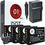 4x DOT-01 Brand Fujifilm X-A3 Batteries And Charger For Fujifilm X-A3 Mirrorless Camera And Fujifilm XA3 Battery And Charger Bundle For Fujifilm NPW126 NP-W126