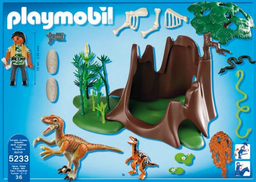 Playmobil dinosaurios velociraptors y exploradora 5233 for Playmobil dinosaurios