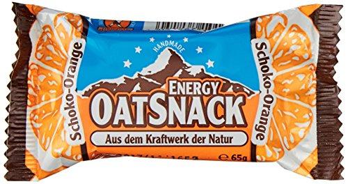 Energy OatSnack, natürliche Riegel - von Hand gemacht, Schoko-Orange, 15x65g, 1er Pack (1 x 975g)