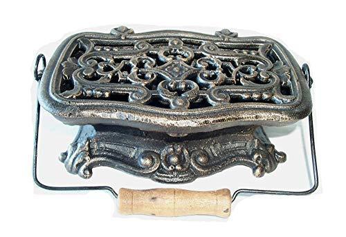 linoows Antikes Stövchen, Rechaud aus Gußeisen, Warmhalteplatte, Grillgut Wärmer