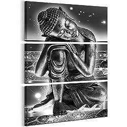 murando - Cuadro Buda 90x135 cm impresión de 3 Piezas en Material Tejido no Tejido - impresión artística - Imagen gráfica - decoración de Pared - abstracción Zen Oriental p-C-0008-b-h