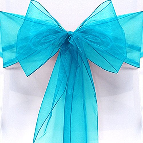 10PCS Chair Covers Bows, FAVOLOOK Multicolored Organza Sashes Tie Ribbon Dining Garden Chair For Wedding Party Birthday Festival Christmas Decoration 51fEzw87wXL