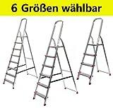 Alu Stehleiter ECO Serie - 6 Größen wählbar (3 bis 8-stufig), 3-stufig