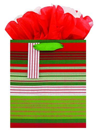 Das Papier Company 3638–02Gogo Holiday Geschenk Tüten, festliche Stoff Streifen