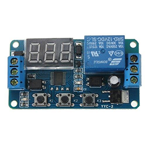Rele de automatizacion - TOOGOO(R)Automatizacion DC 12V LED pantalla Temporizador de retraso digital Interruptor de Control Modulo de reles